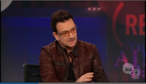 Bono talk about (RED) Campaign on Daily Show.