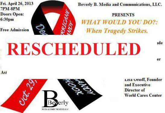 Memorial ribbon reschedule