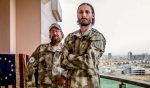 """Matthew VanDyke (right) says Iraqi Christians will be """"wiped out"""" if they don't get help defending themselves.      Credit:   Photo from Sons of Liberty Facebook page"""